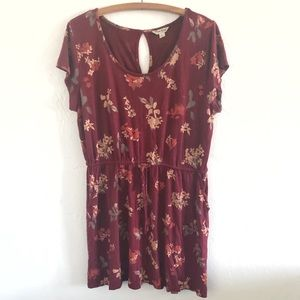 Lucky Brand Watercolor Floral Pocket Dress